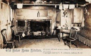 LPS71 Jaffrey New Hampshire Old Baker Home Kitchen Postcard RPPC