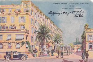 Grand Hotel O'Connor Giraudy & Courtyard, Nice France 1920s