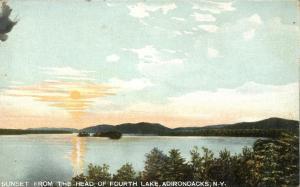 Sunset from Head of Fourth Lake - Adirondacks, New York - DB