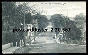 567 - CHICOUTIMI Quebec Postcard 1926 Rue Racine