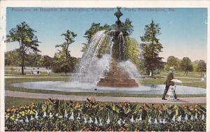 Pennsylvania Philadelphia Fountain At Dauphin Street Entrance Fairmount