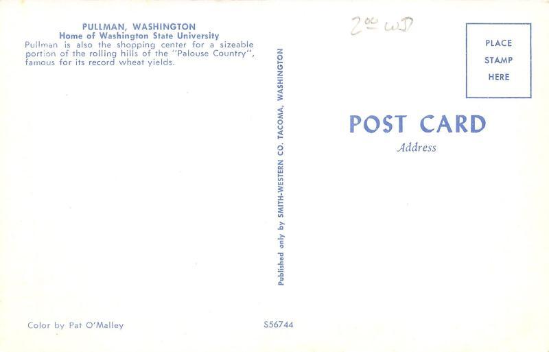 Pullman WA~Main Street~Cafe~Hofstrand Motors~City Club Billiards~Pepsi~1960 Cars