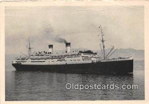 Ship Postcard Post Card Italia Conte Grande Ship Postcard Post Card
