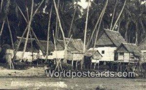 Real Photo Malay Fishing Village Malaysia Unused