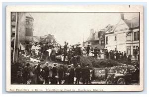 Postcard Distributing Food, San Francisco CA earthquake fire 1906 G11