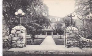 Virginia Harrisonburg Bond Memorial Gateway To Hotel Massanetta Springs Bible...