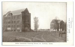 Early 1900s Idaho Industrial Training School, St. Anthony, ID Postcard *4W