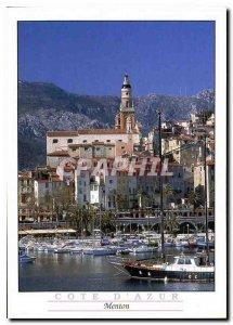 Postcard Modern French Riviera Menton