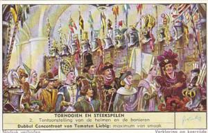 Liebig Trade Card S1682 Tourneys & Jousts 1957 No 2 Tentoonstelling van de he...