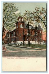 Postcard State Normal School, Farmington, Maine ME pre 1907 H21 A