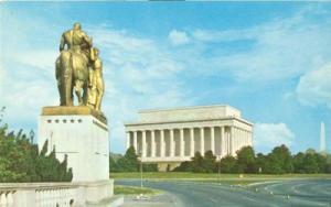 Washington DC - Lincoln Memorial 1950s unused Postcard