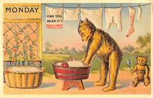Bear Post Card Old Vintage Antique Reproduction 1977