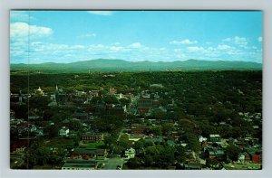 Burlington VT-Vermont, Birdseye View, Chrome Postcard