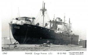 Nautica - Falaise Cargo France 15-12-1963 RPPC  03.29