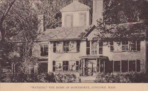 Massachusetts Concord Wayside The Home Of Hawthorne