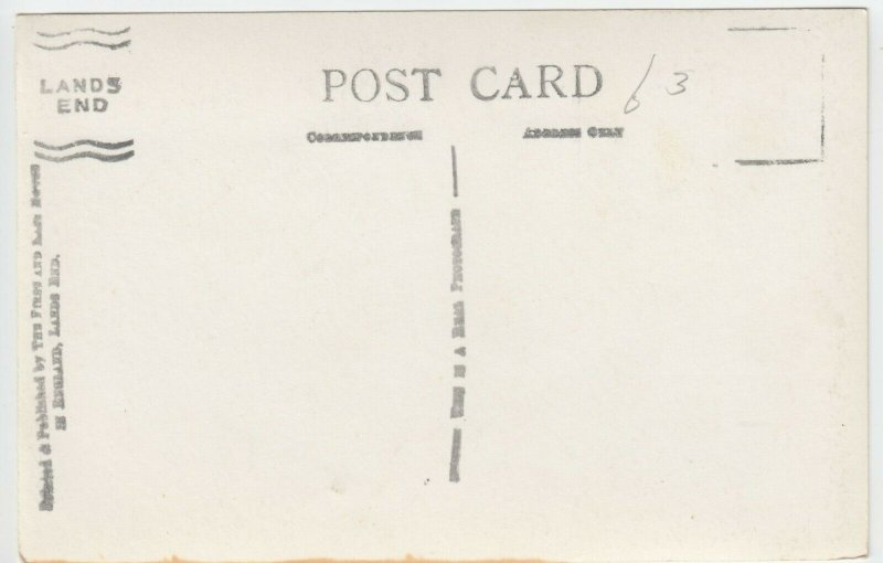 Cornwall; Lands End & Longships Lighthouse RP PPC Unused, Note Lands End Cachet
