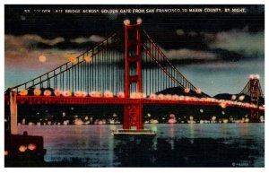 California San Francisco , Golden Gate Bridge at Night