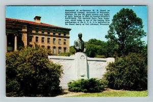 Madison WI, Monument W.D. Hoard Univ. Of Wisconsin, Chrome Wisconsin Postcard