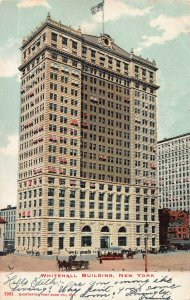The Whitehall Building, Manhattan, New York City, N.Y., Postcard, Used in 1907