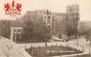 London. Westminster Abbey Tuck Heraldic Series PC # 2175