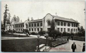 1909 AYPE Seattle World's Fair Expo Official Postcard Machinery Building UNUSE