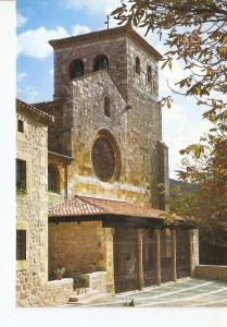 Postal 025610 : Fachada Colegiata s. XIV Covarrubias (Burgos)