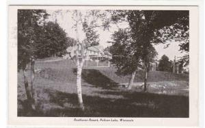 Resthaven Resort Pelican Lake Wisconsin 1947 postcard