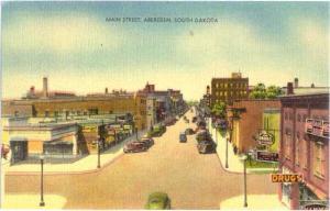 Main Street, Aberdeen, South Dakota, SD, Linen