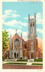 Pennsylvania Erie Church Of The Covnenant 1952 Curteich