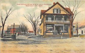 Montague City MA Post Office & Store in 1909 Postcard