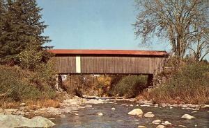 Scott Covered Bridge over Brewster River - Jeffersonville VT, Vermont