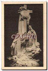 Postcard Old La Chapelle des Carmelites of Lisieux sculpts Group dominating t...