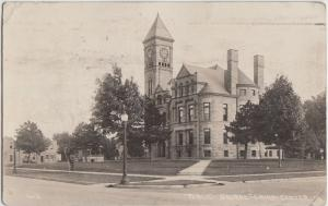 Iowa Ia Real Photo RPPC Postcard 1920s GRUNDY CENTER Public Square Court House