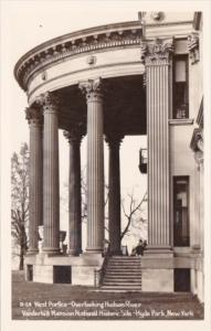 West Portico Overlooking Hudson River Vanderbilt Mansion National Historic Si...
