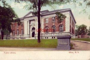 PUBLIC LIBRARY UTICA, NY PRE-1907 publ by The Rochester News Company