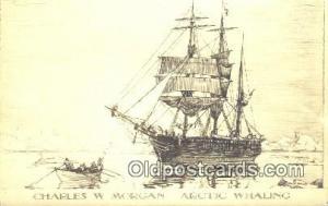 Charles W Morgan Arctic Whaling Sail Boat Postcard Post Card  Charles W Morga...
