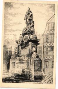 CPA ROUEN-Fontaine Jeanne d'Arc (234973)