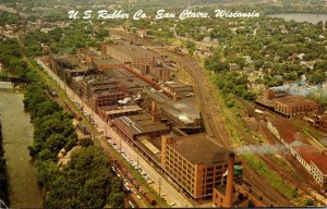 Wisconsin Eau Claire Aerial View United States Rubber Company 1986