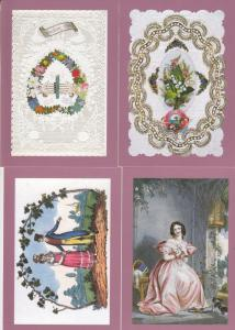 Royal Mail Victorian Valentine Love FOUR Postcard s