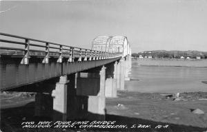 Chamberlain South Dakota~2 Way/4 Lane Bridge over Missouri River~RPPC-Postcard