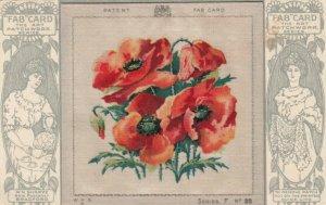 SILK Patchwork, Irish Poppies, Needlework Series F #38, 1900-10s