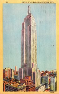 New York City Empire State Building 1949 Curteich