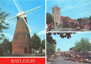 New Postcard, Multi View, Rayleigh, Essex, The Windmill, Church, High Street