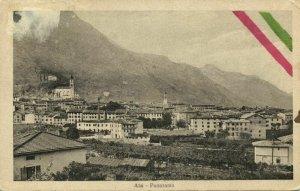 italy, ALA, Trentino, Panorama Border Town (1910s) Postcard