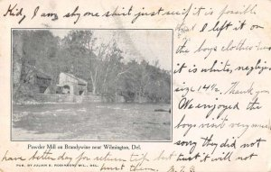 Wilmington Delaware Brandwine Powder Mill Vintage Postcard AA24397
