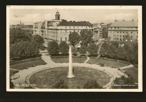 Sweden Stockholm Karlaplan Postmarked 1955 AKTA Fotogrfi Real Photo Postcard
