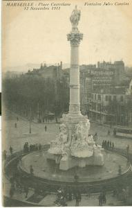 Marseille, Place Castellane, Fontaine Jules Cantini, 1911