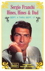 Sergio Franchi Hines, Hines & Dad Movie Star Actor Actress Film Star Postcard...