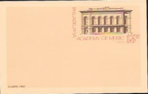 US Postcard Mint - Philadelphia - Academy of Music.  Issued in 1982