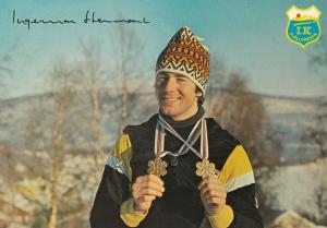 Ingemar Stenmark 1978 Norway Olympics World Champion Giant Slalom Postcard